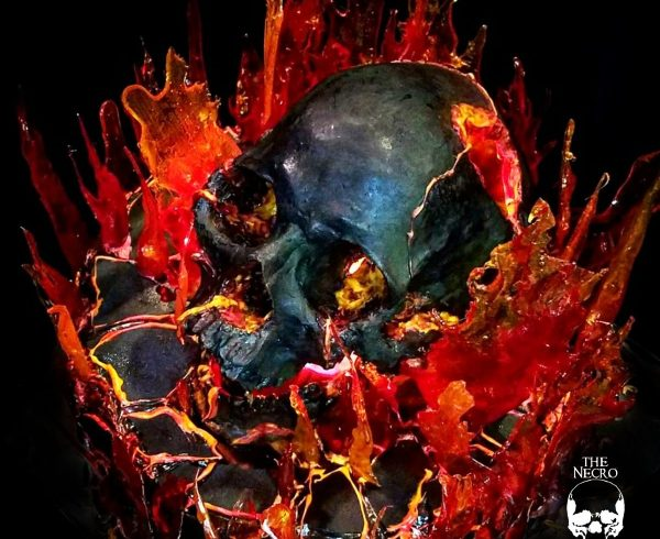 Halloween Recipe: The Inferno Flaming Chocolate Skull Cake