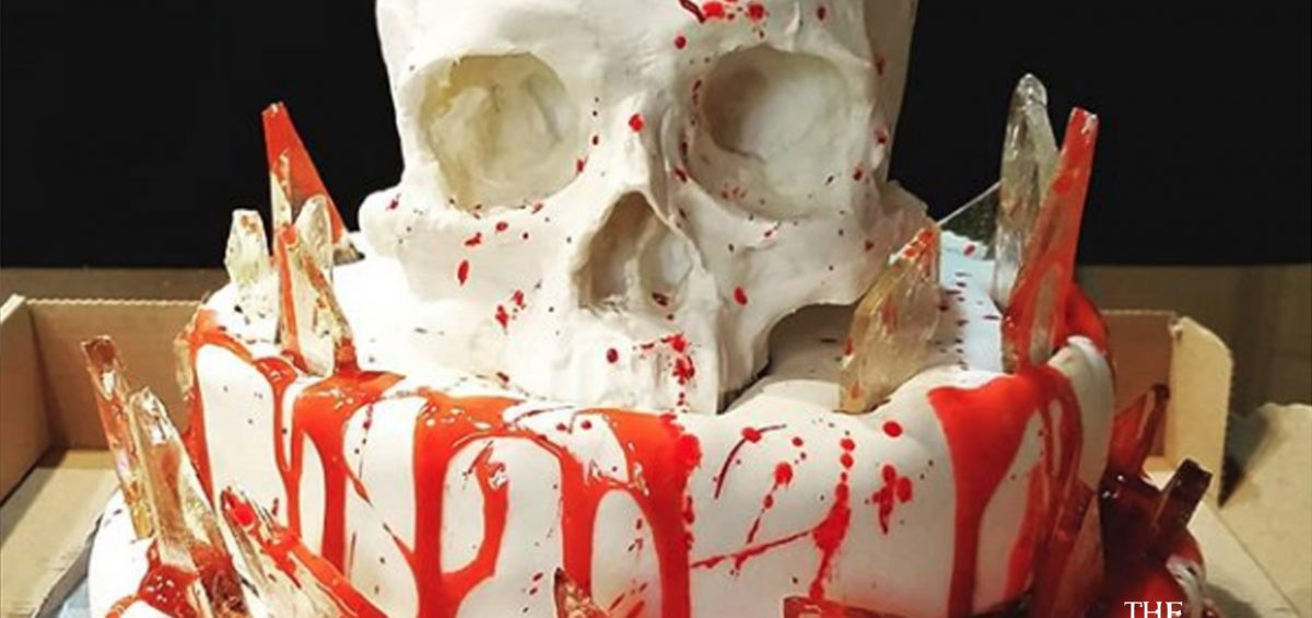 Halloween Recipe: Glass Shard and Skull Cake