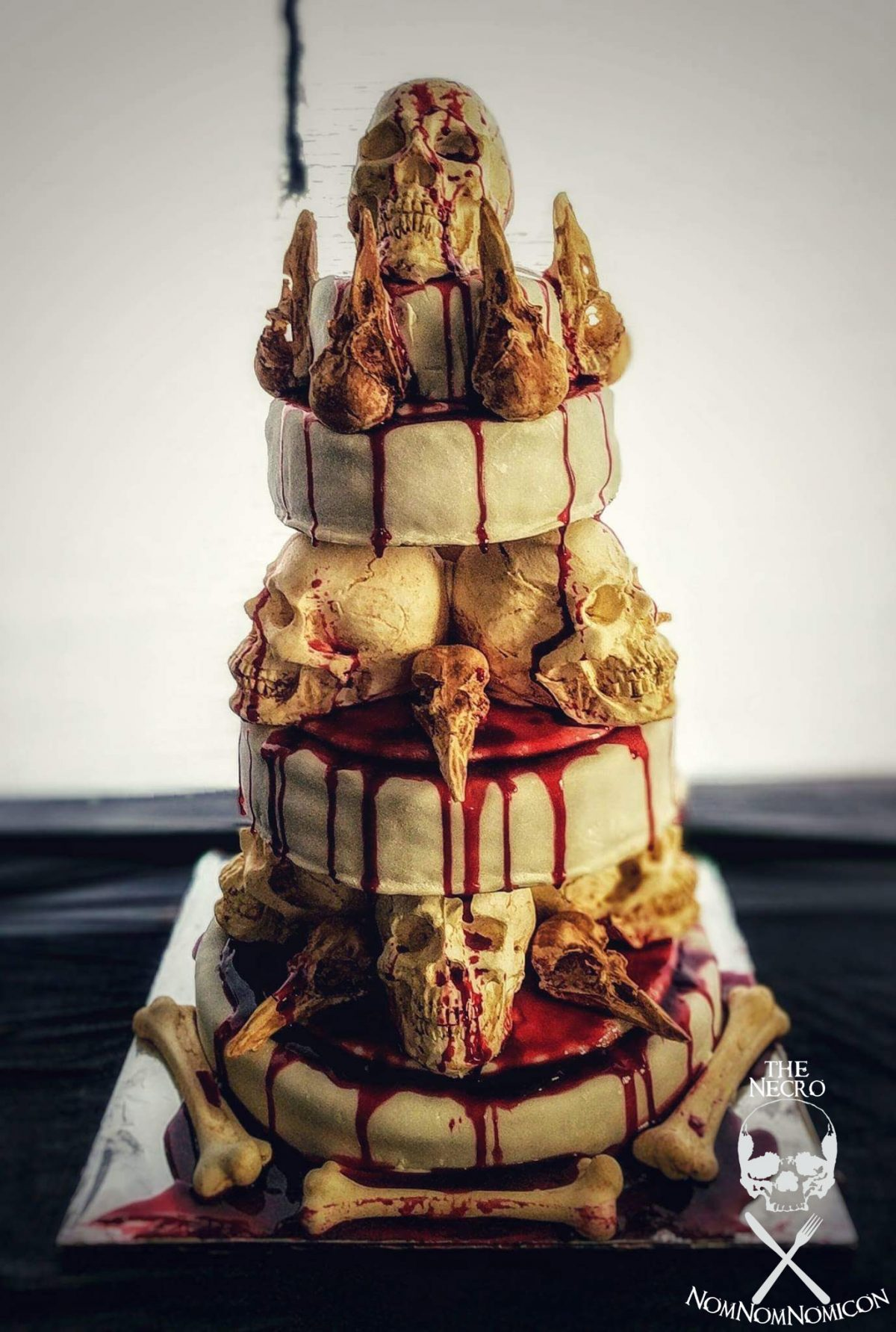 Halloween Recipe The Bone Collector Stacked Skull Cake